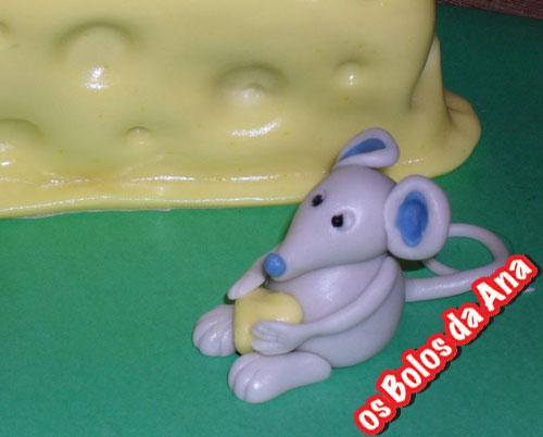 Os Bolos da Ana - Bolo Fatia de quijo com ratinhos cheese mice