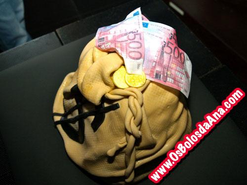 Um Bolo da Ana - Bolo Saco de Dinheiro - Money Bag Cake